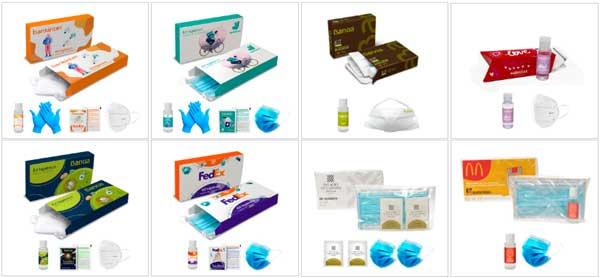 Sets de productos de protección higiénica personalizados