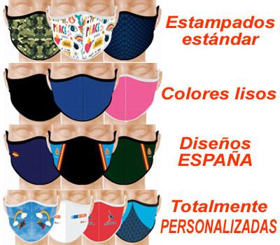 Mascarilla REUTILIZABLE de NEOPRENO, de fabricación Española y personalizable a todo color en toda la superficie.
