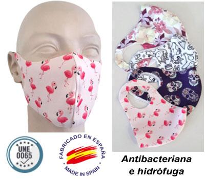 Mascarilla de neopreno troquelado personalizable a todo color en toda la superficie y de fabricación en España.