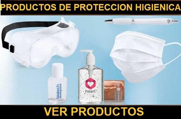 Varios productos de protección higiénica.