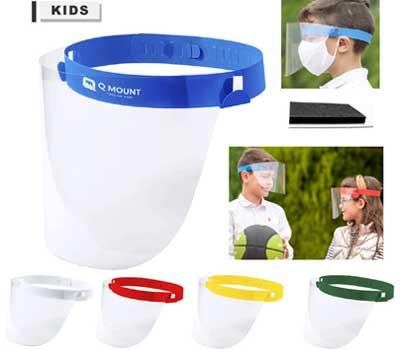 Pantalla facial abatible para niños.