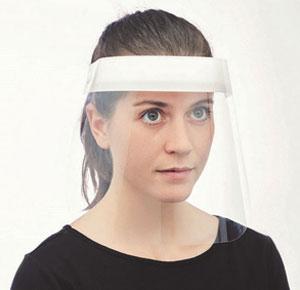 Pantalla facial personalizable para empresas