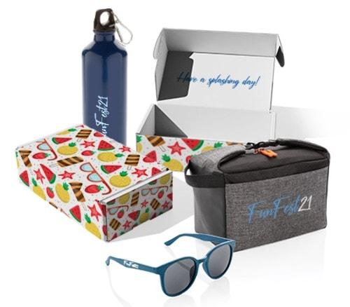 Idea de set de regalos promocionales para verano.
