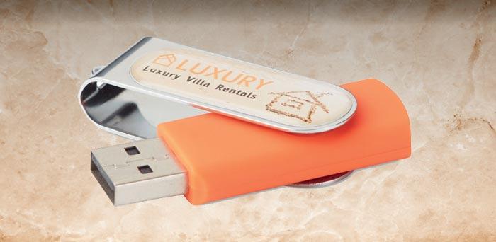 USB personalizado para regalo de empresa.