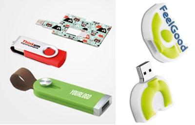 USB personalizable como un artículo promocional para regalos de empresa tecnológicos.