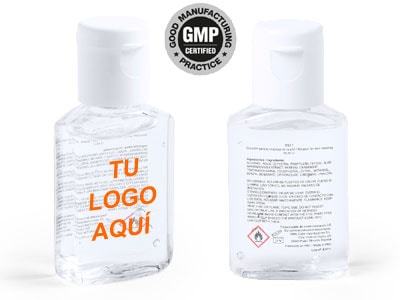 Bote de gel hidroalcoholico desinfectante de manos de bolsillo, de 15ml.
