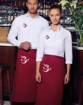 Vestuario laboral para camareros y restaurantes como merchandising para empresas.